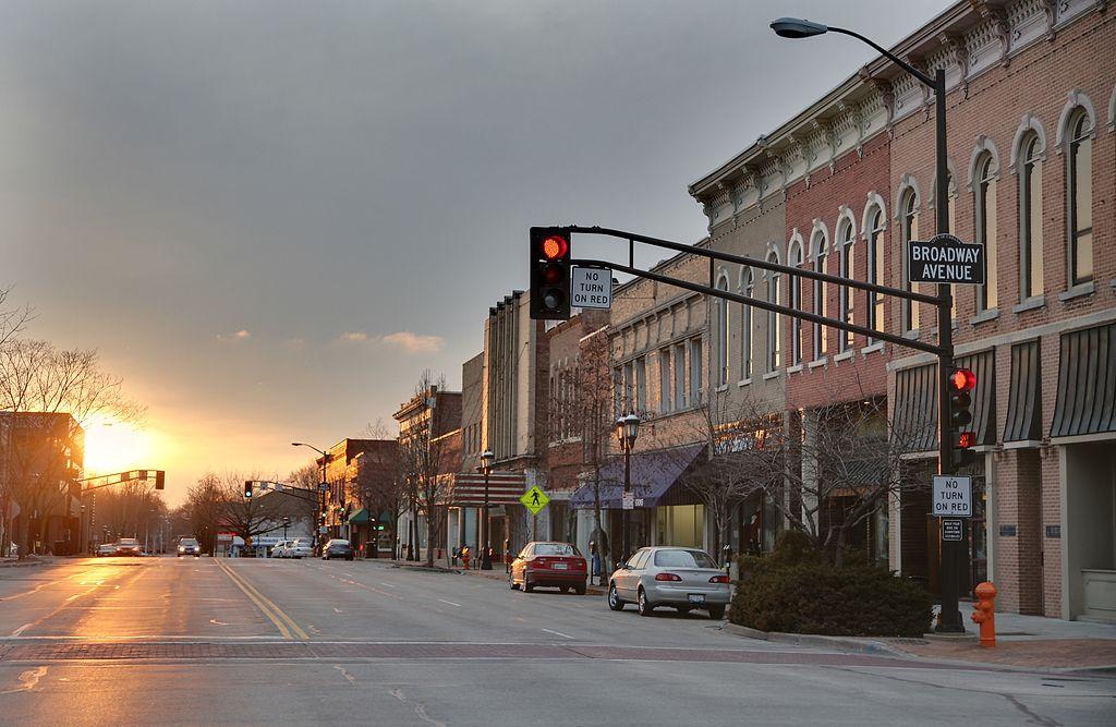 east_main_street_at_broadway_avenue_urbana_il_sunset